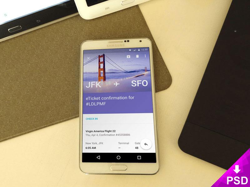 Samsung Note 3 Realistic Mockup