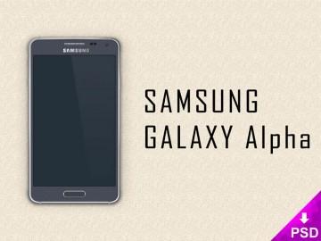 Samsung Galaxy Alpha Mockup