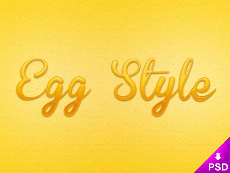 Egg Text Layer Style