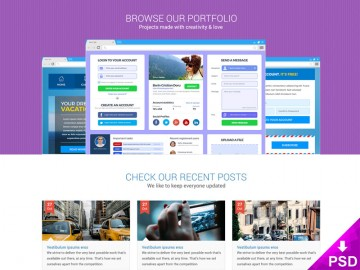 Flat Style Homepage Design