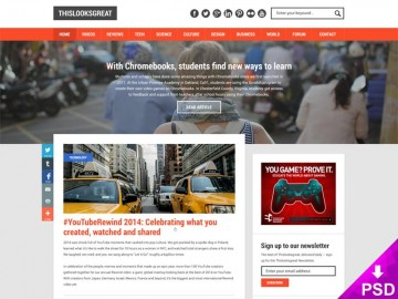 Tech News Website Design