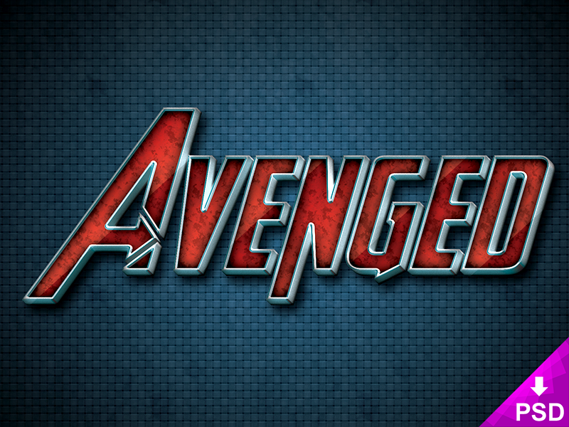 Avenged Text Style