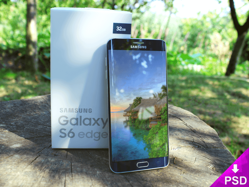 Samsung S6 Edge Box Mockup