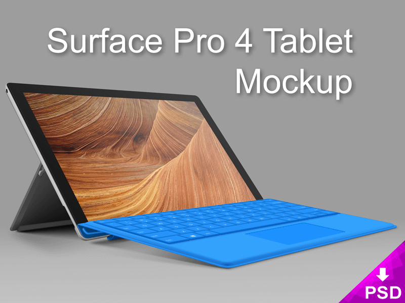 Surface 4 Pro Tablet Mockup