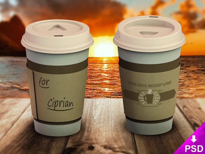 Coffee Cup Logo Mockup