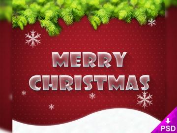 Merry Xmas Text Style