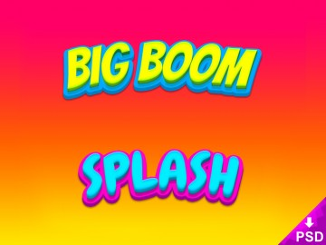 Big Boom and Splash Text Style