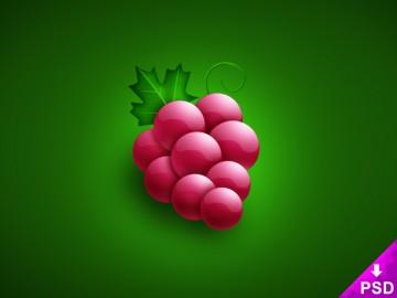 Cartoon Grapes Design