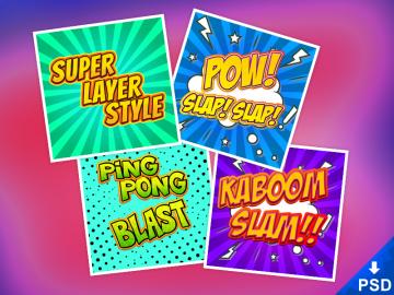 4 Comic BookText Styles