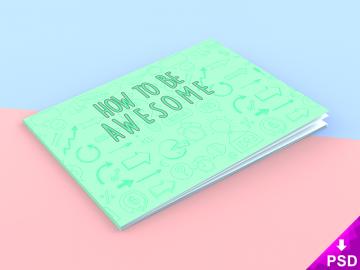 Landscape Book Cover Mock-