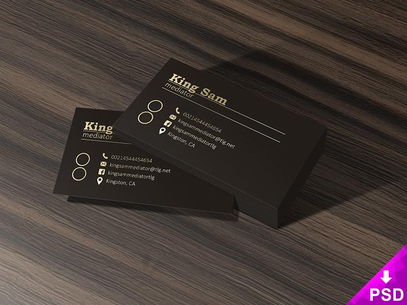 Dark Business Cards Mockup