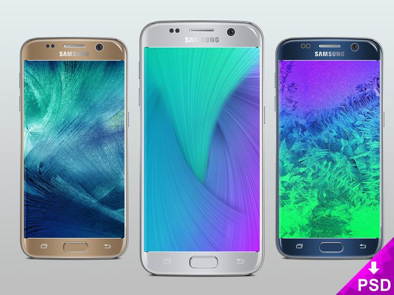 Free Samsung Galaxy S7 Silver Mockup
