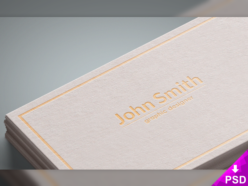 White Business Cards Mockup