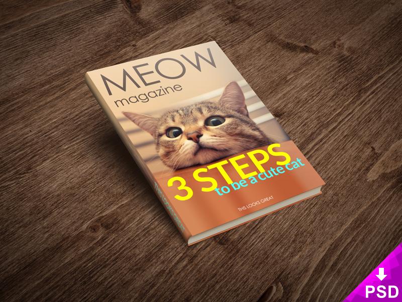 Cat Magazine Mockup