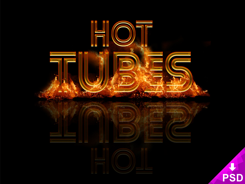 Hot Tubes Text Style