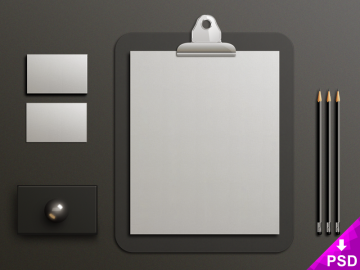 Gray Clipboard Mockup
