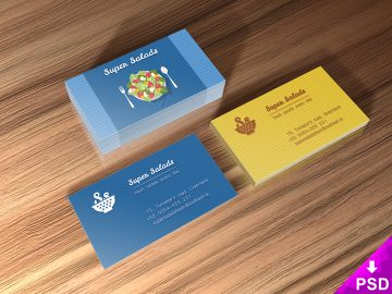 Dark Business Cards Mockup