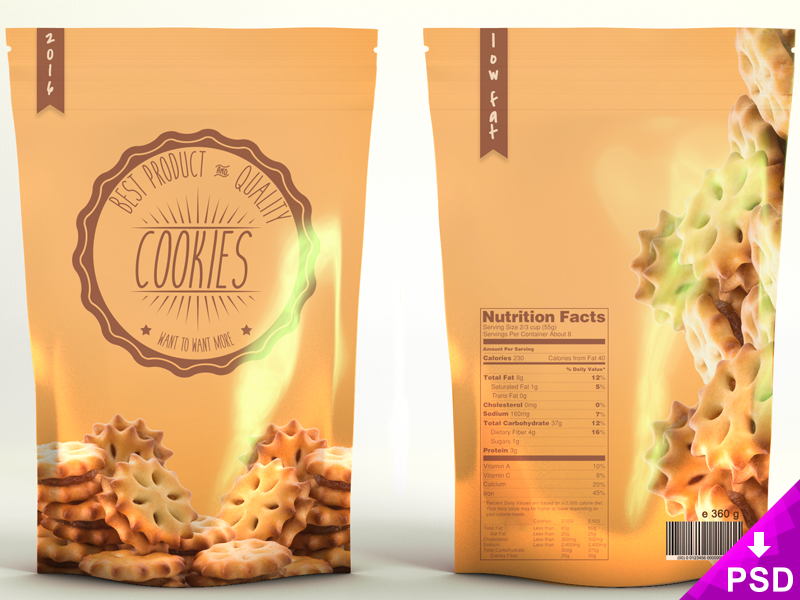 Snacks Product Bag Mockup