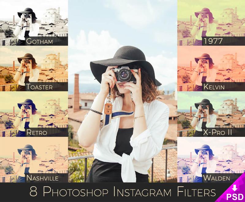 Instagram Photoshop Filters