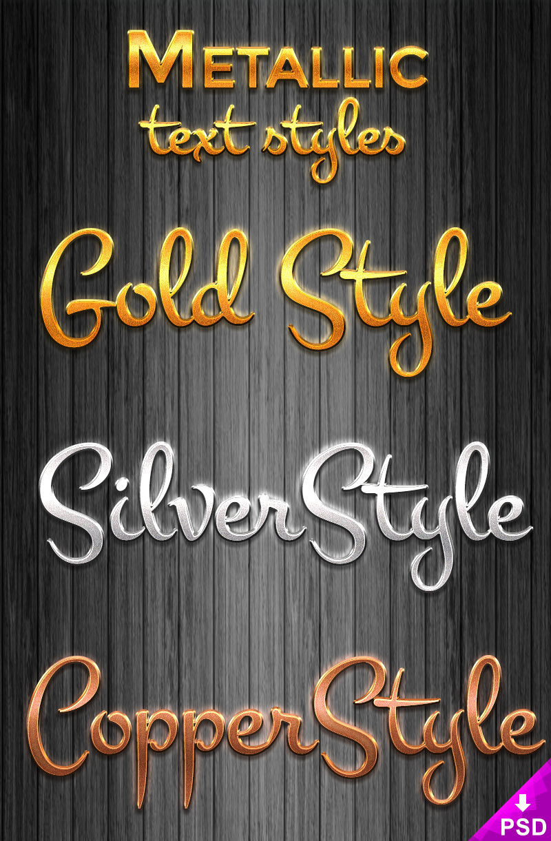 Metallic Layer Styles