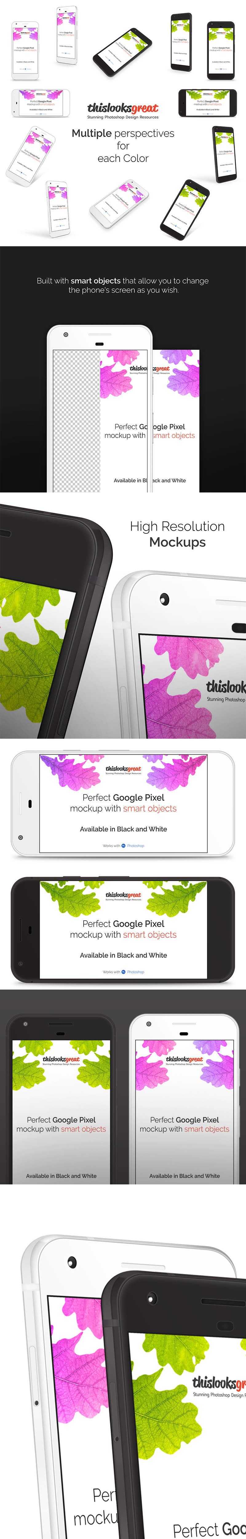 Google Pixel Phone Mockup