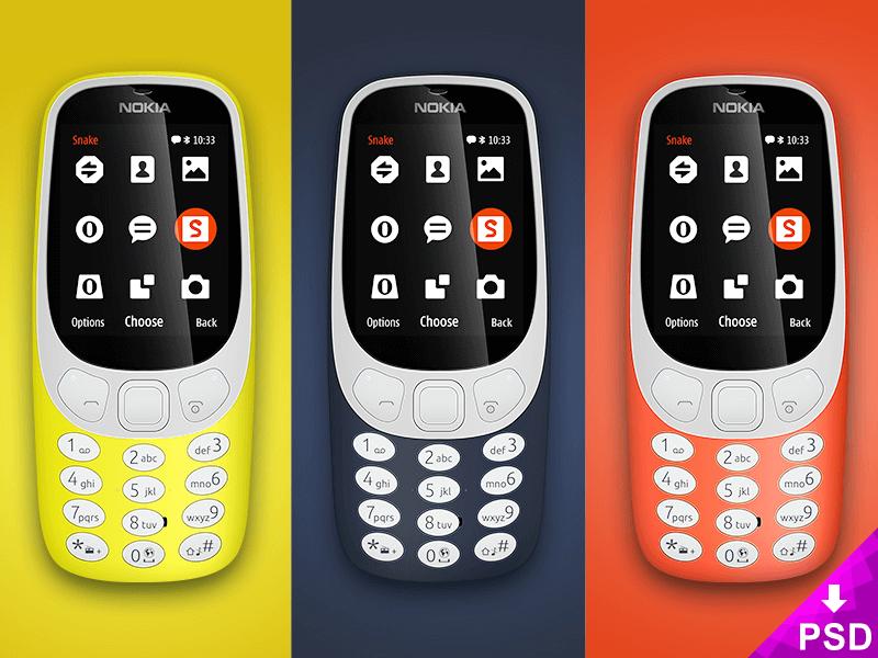 Nokia 3310 Mockup