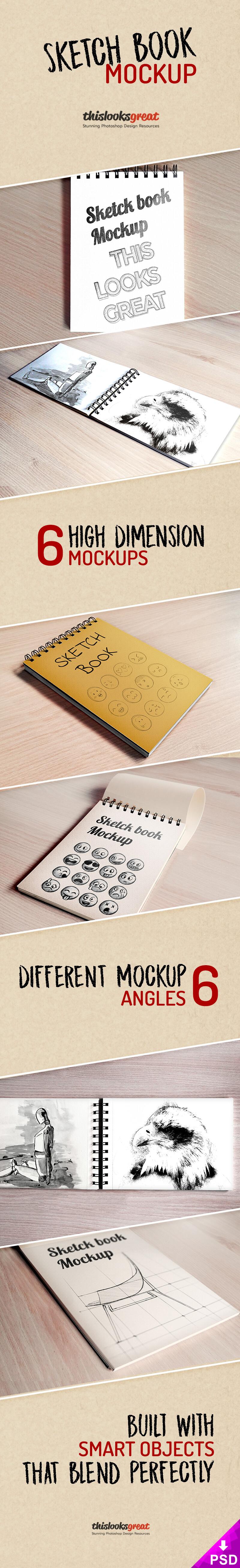 Sketch Book Mockup