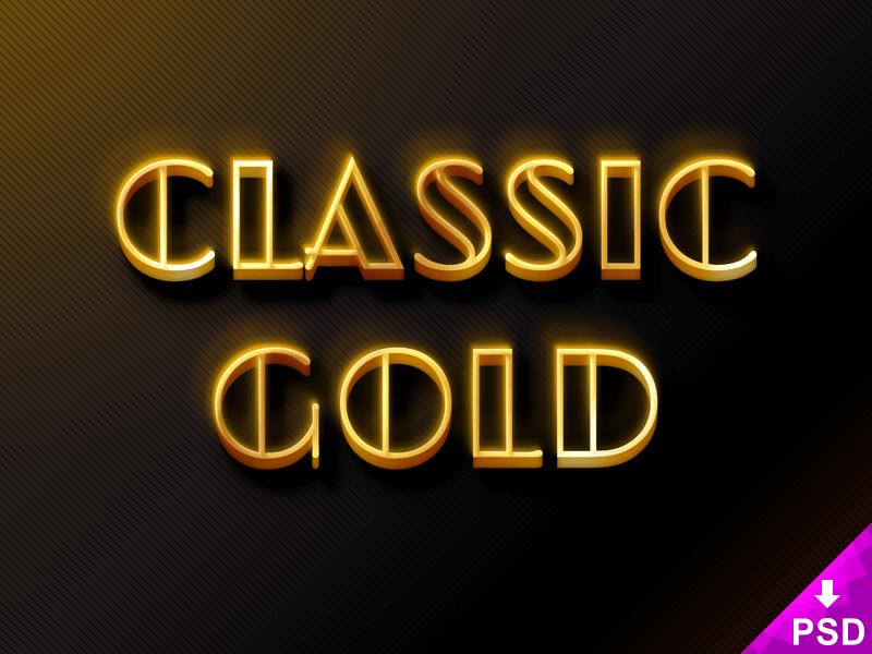 3D Classic Gold
