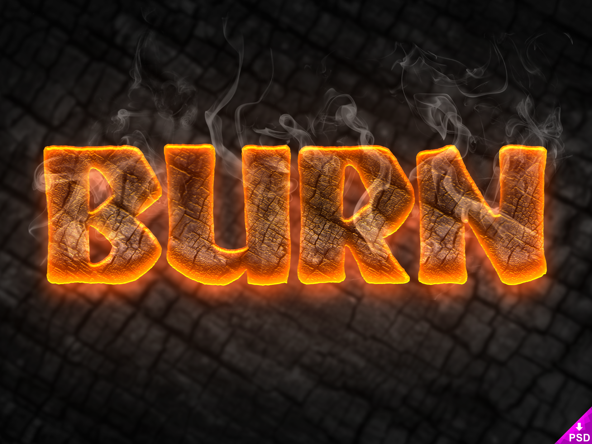 thislooksgreat net - Burn Text Style FREEBIE PSD – thislooksgreat net