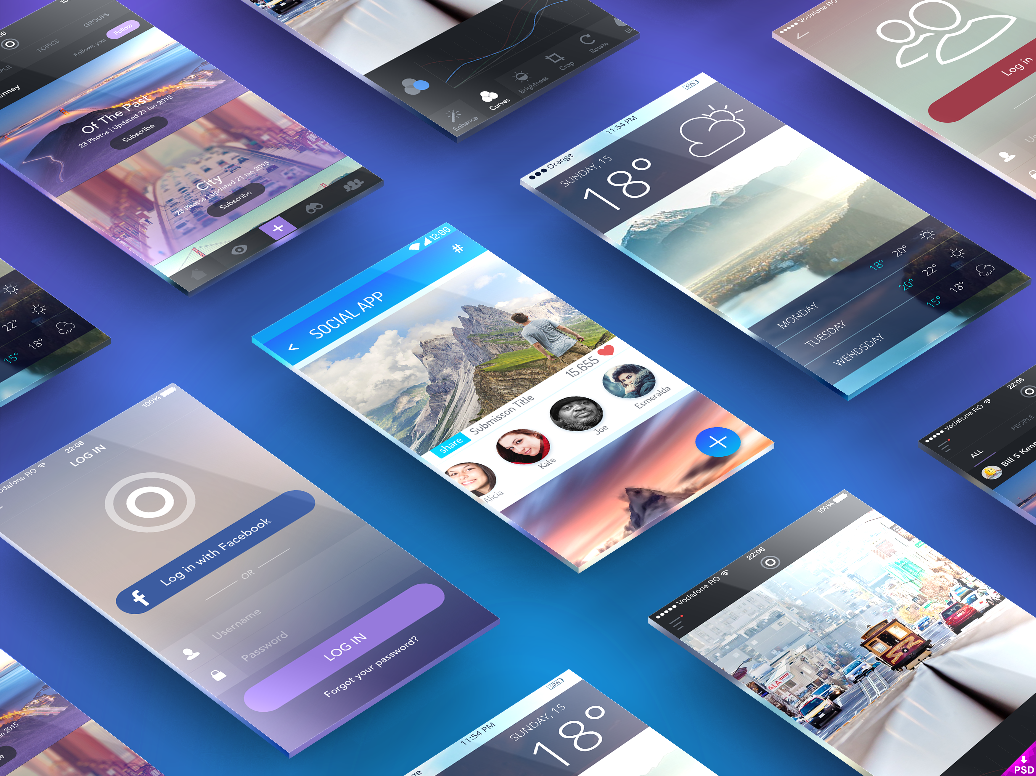 Perspective Screens App Presentation Mockup