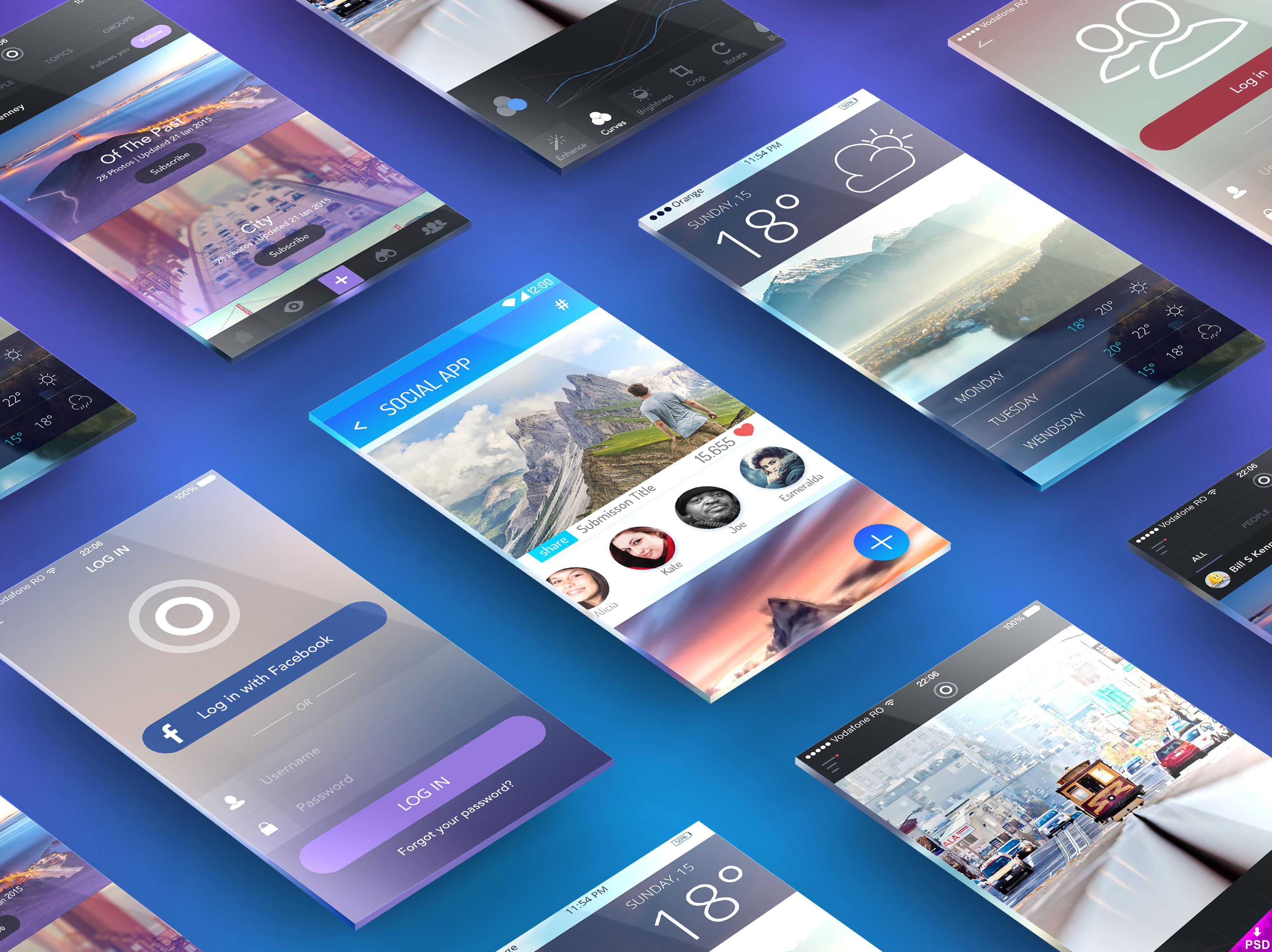 Perspective Screens App Presentation Mockup